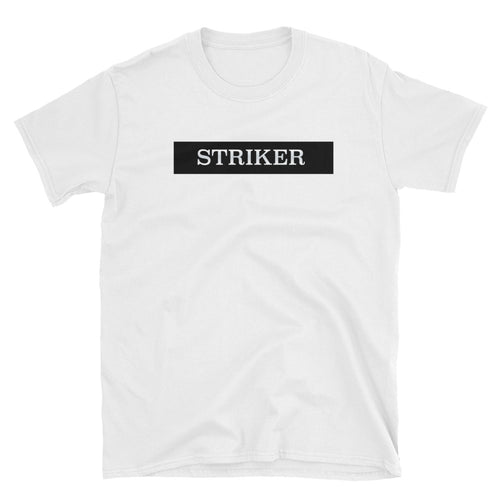 Striker T Shirt White Football One Word Striker T Shirt for Women - FlorenceLand