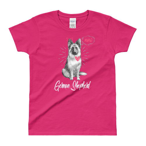 German Sheppard T Shirt Pink German Sheppard Mom T Shirt for Women