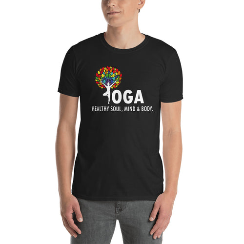 Yoga T Shirt Black Shakti Yoga T Shirt Healthy Soul, Mind & Body T Shirt for Men - FlorenceLand