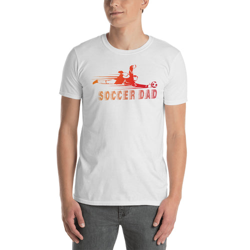 Unisex Soccer Dad T-Shirt White Sporty Dad T Shirt Gift Idea - FlorenceLand