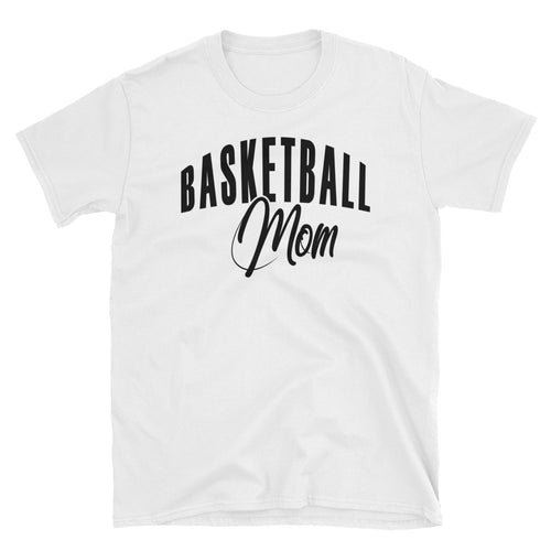 Basketball Mom T Shirt White Basketball Tee Gift All Sizes Including Plus Size Basketball Mum T Shirt - FlorenceLand