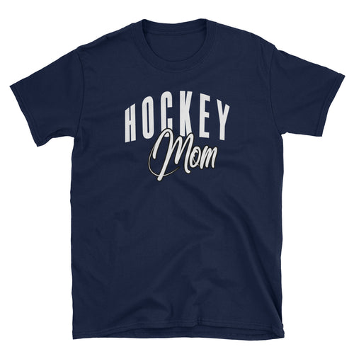 Hockey Mom T Shirt Navy Hockey Game Gift T Shirt for Sporty Mums - FlorenceLand
