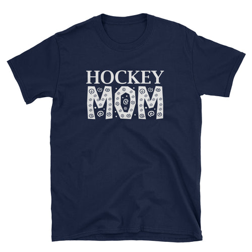 Hockey Mom T Shirt Navy Unisex Hockey Mom T Shirt Sporty Mom Tee - FlorenceLand