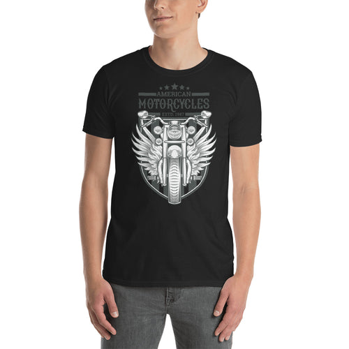 Triumph Retro Motorbike T Shirt Black Classic Racer Bike T Shirt for Men - FlorenceLand