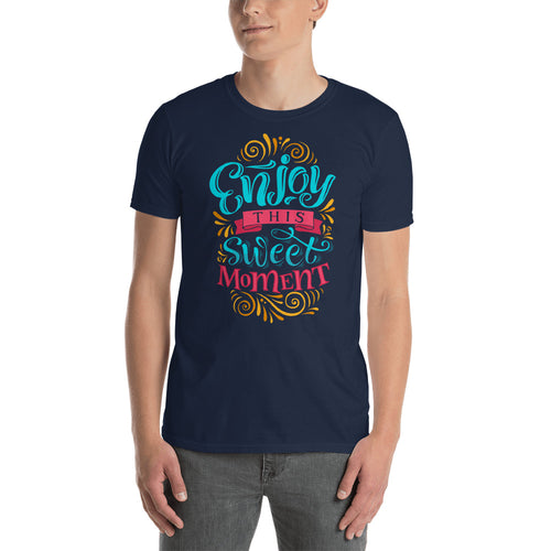 Enjoy This Sweet Moment T Shirt in Navy Blue Color for Men - FlorenceLand