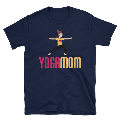 Yoga Mom T Shirt Navy Cotton Spiritual Yoga T Shirt T Shirt for Mum
