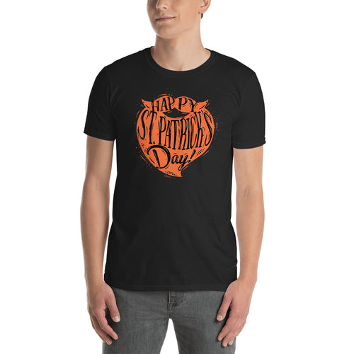 St Patrick Day Orange Beard T Shirt Black Color Happy St Patrick day T Shirts for Men - FlorenceLand