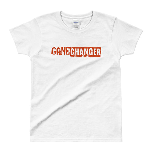 Game Changer T Shirt White Positive Vibes T Shirt Be A Game Changer T Shirt for Women - FlorenceLand