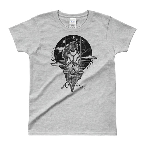 Descended From That Witch You Couldn't Burn T-Shirt Grey for Women - FlorenceLand