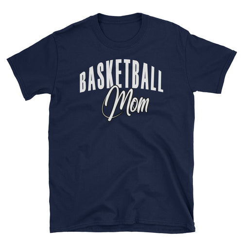 Basketball Mom T Shirt Navy Basketball Tee Gift All Sizes Including Plus Size Basketball Mum T Shirt - FlorenceLand