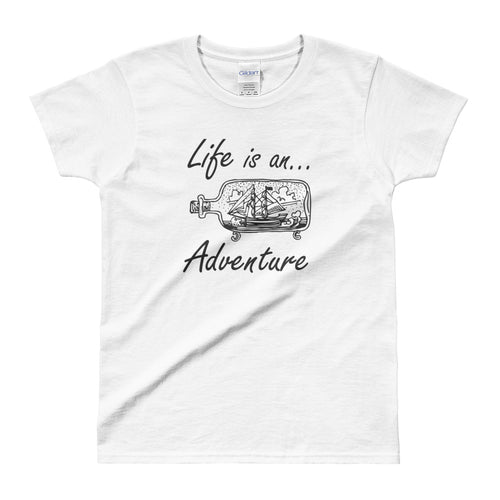 Life is an Adventure T shirt White Adventure Life T Shirt for Women - FlorenceLand