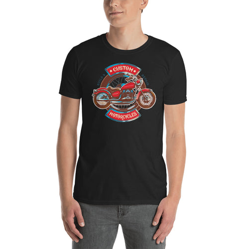 Custom Retro Vintage Motorcycle T Shirt Black Triumph Biker T Shirt for Men - FlorenceLand