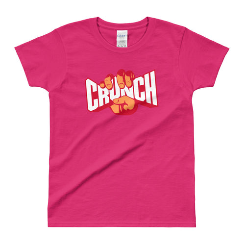 Crunch T Shirt Pink Fitness T Shirt Crunches T Shirt for Women - FlorenceLand
