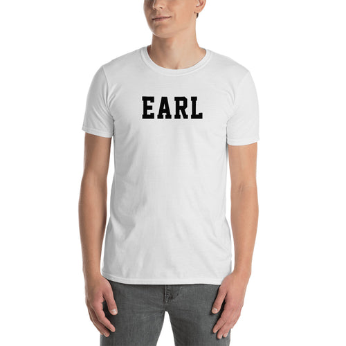 Earl T Shirt Custom Made Personalized Earl Name Print T Shirt White Tee Shirt for Men - FlorenceLand