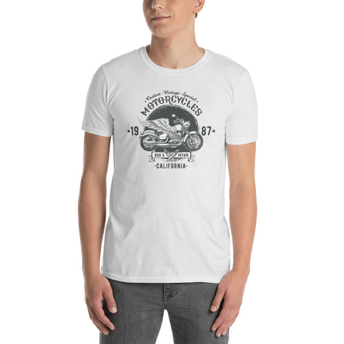 Motorcycle T Shirts White Retrobike Tee Shirts Cotton Triumph Motorcycle T Shirts for Men - FlorenceLand