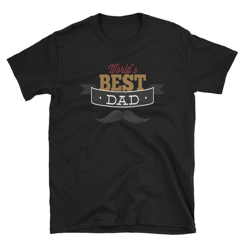 Unisex World Best Dad T Shirt Short Sleeve Black T Shirt Gifts for Dad - FlorenceLand