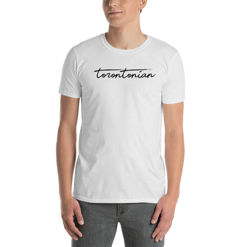 Torontonian T Shirt White 100% Toronto T Shirt for Men