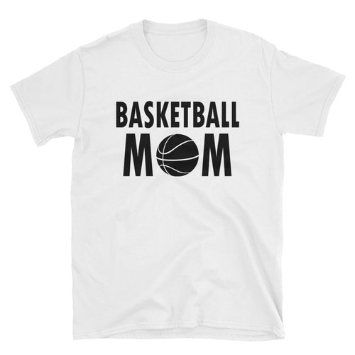 Basketball Mom T Shirt White Unisex Sports Mother T Shirt Basketball Mum T Shirt - FlorenceLand