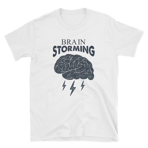 Brainstorming T Shirt White Brainstorm Short-Sleeve Cotton T-Shirt for Women - FlorenceLand