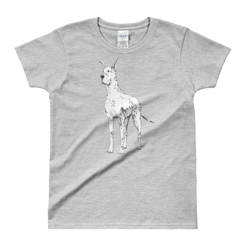 Great Dane T Shirt Grey Great Dane T Shirt for Women - FlorenceLand