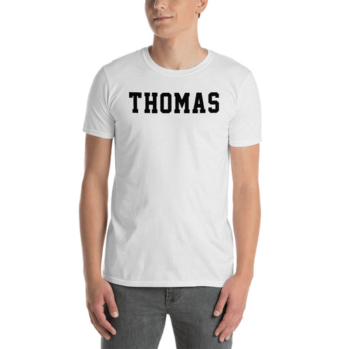 Thomas T Shirt Custom Made Personalized Thomas Name Print T Shirt White Cotton Tee Shirt - FlorenceLand