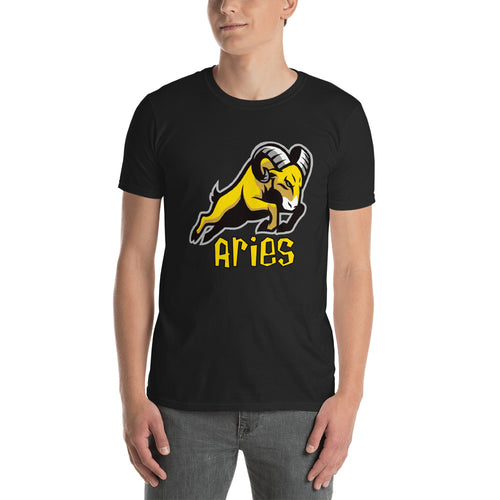 Aries T Shirt Black  Aggressive Horoscope Aries T Shirt Cotton Aries Zodiac T Shirt for Men - FlorenceLand