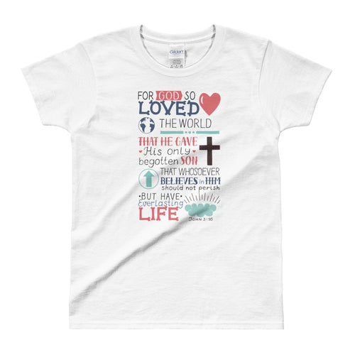 Gods Love T Shirt Christian Religion T Shirt White Bible Verses T Shirts for Women - FlorenceLand