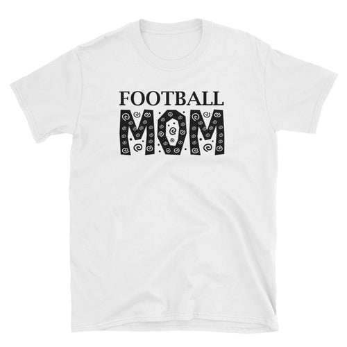 Football Mom T Shirt White Unisex Soccer Mom T Shirt Sporty Mom Tee - FlorenceLand