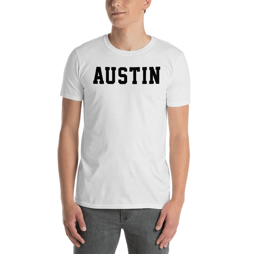 Austin T Shirt Custom Made Personalized Austin Name Print T Shirt White Cotton Tee Shirt - FlorenceLand