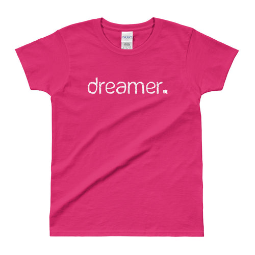 Dreamer Quote T Shirt Pink Dreamer Quote T Shirt for Women - FlorenceLand