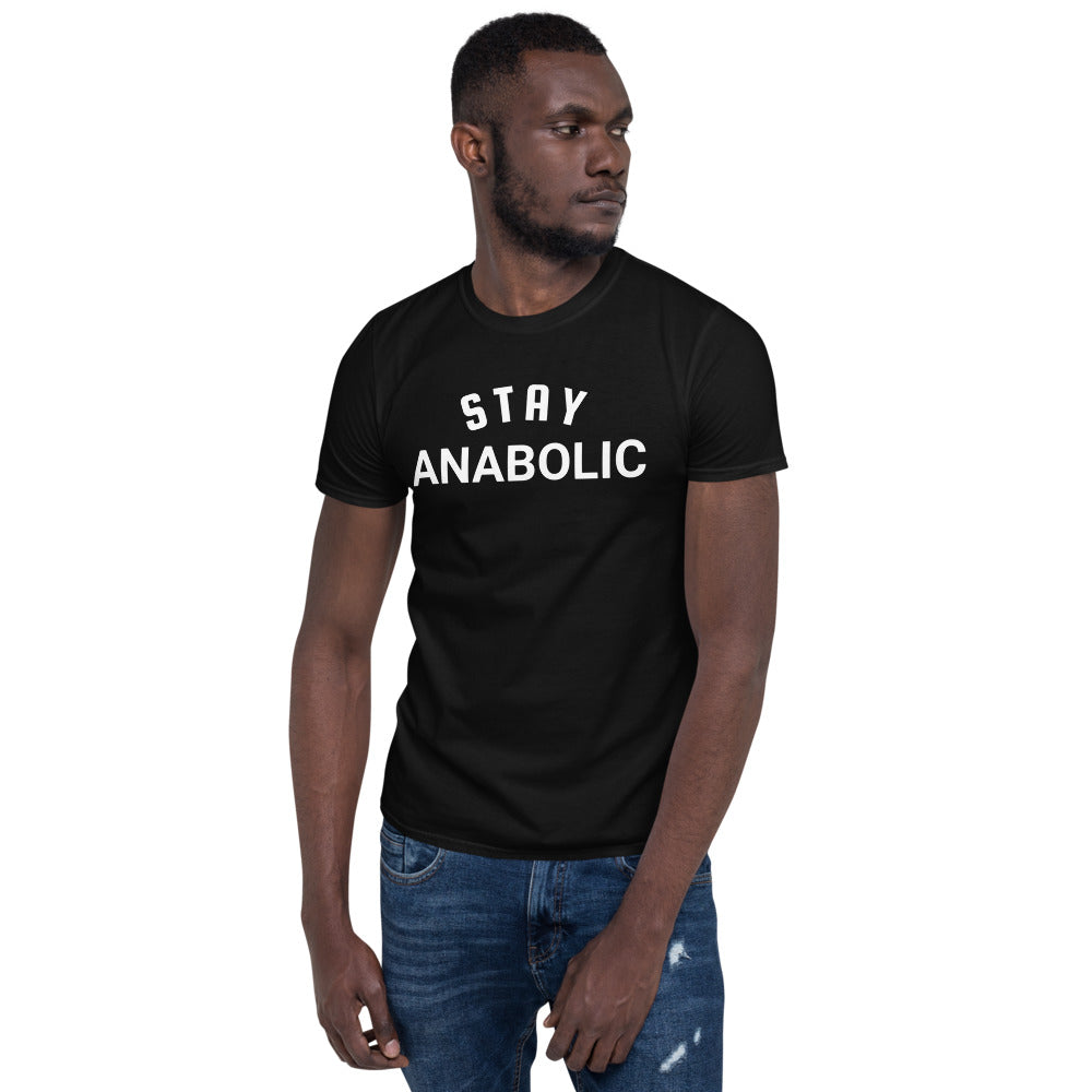 Stay Anabolic Gym Short-Sleeve Black T-Shirt for Men