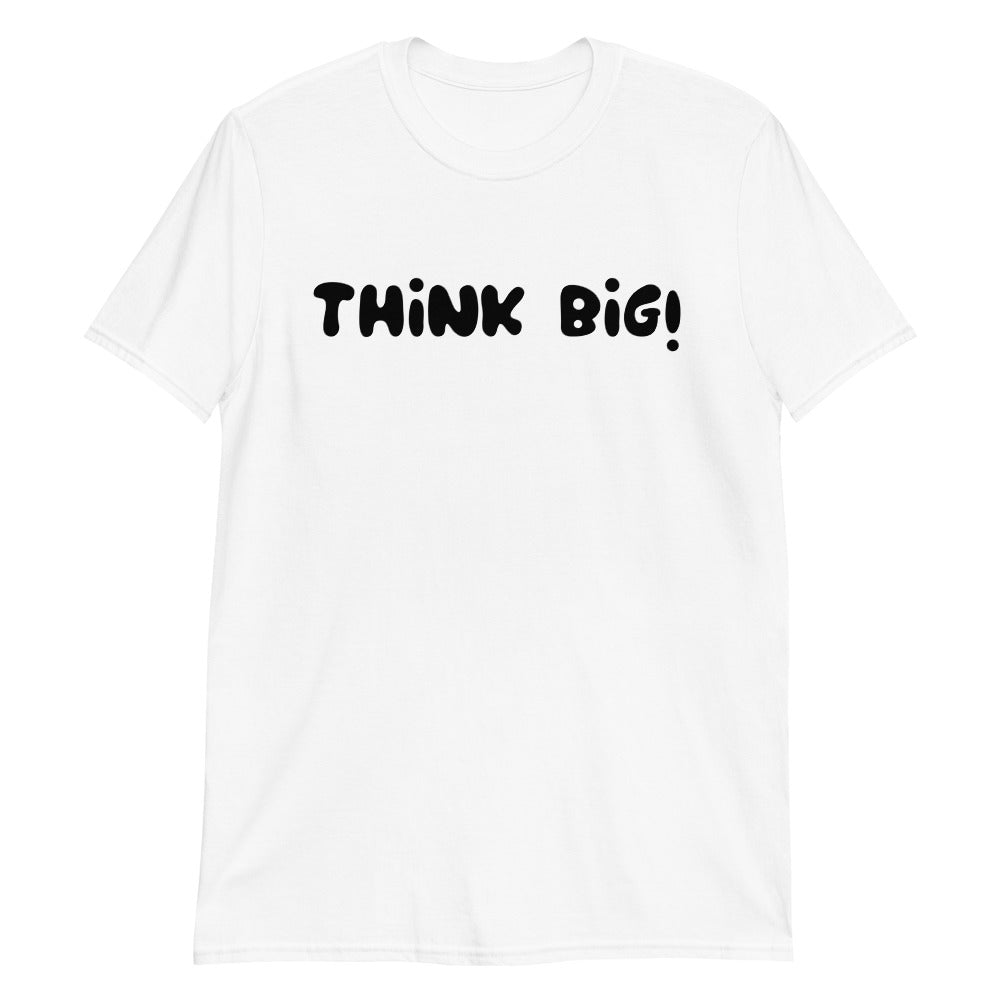 Think Big T Shirt White Think Big Cotton T Shirt for Men