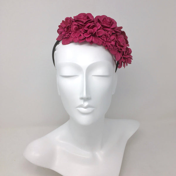 Leather Floral Crown
