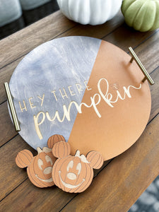 Pumpkin Tray & Coaster Set - PREORDER