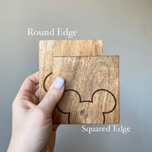 "Load image into Gallery viewer, ""Started with a Mouse"" Natural Coasters - Ready to Ship"