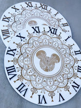 Load image into Gallery viewer, White Engraved Mandala Clock (two sizes available)