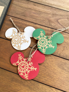 Snowflake Ornaments (Set of 4)