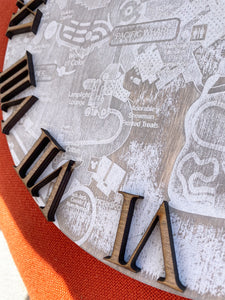 DCA Map Clock - *Multiple Sizes Available*
