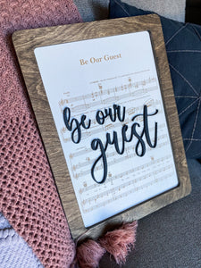Be Our Guest - Magical Playlist Sign