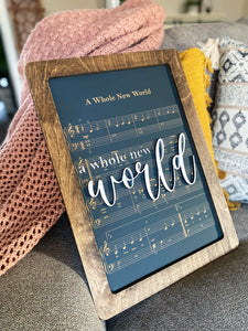 A Whole New World - Magical Playlist Sign