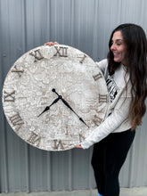 Load image into Gallery viewer, WDW Vintage Park Map Clock (multiple sizes)