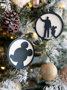 Partners Silhouette Ornament Set