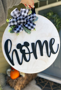 Distressed Buffalo Plaid Home Sign - RTS
