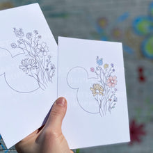 Load image into Gallery viewer, Minimalist Floral Mouse 5x7 Print