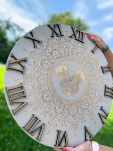 Neutral Mandala Clock LIMITED EDITION - Preorder