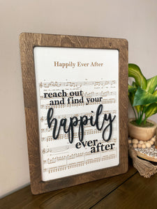 Happily Ever After - Magical Playlist Sign
