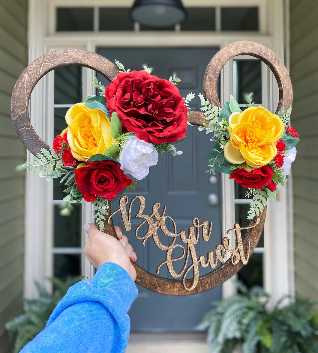 """Be Our Guest"" Mouse Sign"