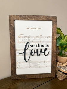 So this is Love - Magical Playlist Sign