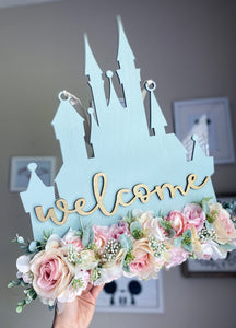 Muted Mint and Glitter Castle Hanger - Preorder