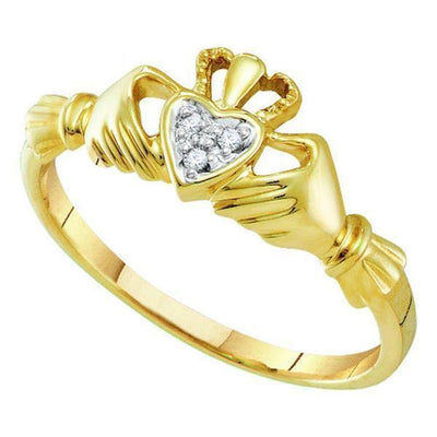 Gold & Diamond Heart Rings-JadeMoghul Inc.